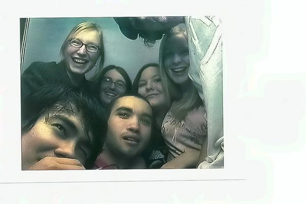All of us in a photobooth...  How the fuck did we pull that off? in Friends by Nick Wiggins
