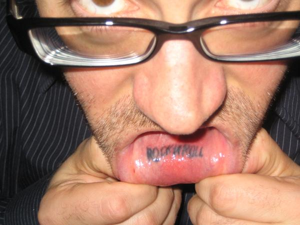 My hideous lip tattoo Old school yo in My Photos by