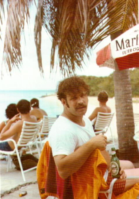 Me in St. Croix on the Beach in Navy by