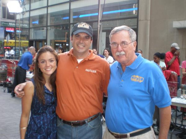 Pitmasters Micheal Rodriguez of Salt Lick and Lindsay Shannon of BB's Lawnside Bar-B-Q in The Today Show by 