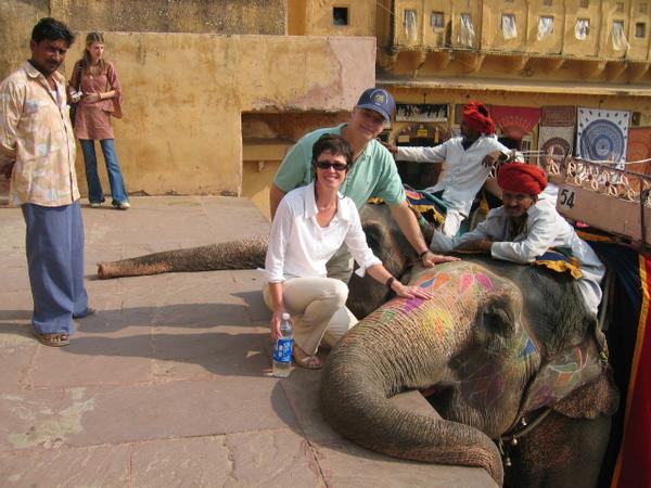 Me, my husband Paul and an elephant! in My Photos by Patricia McCormick
