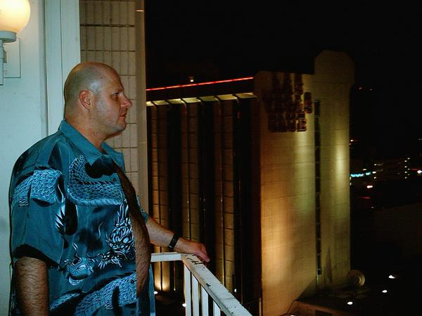 JEFF ON THE BALCONY in OUR FABULOUS LAS VEGAS TRIP 2008 by Bill Metrolis