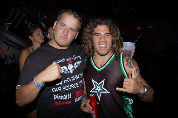Brad and I in clay guida by Clay Guida