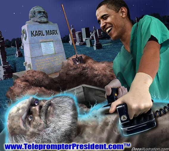pic of obama reviving Karl Marx