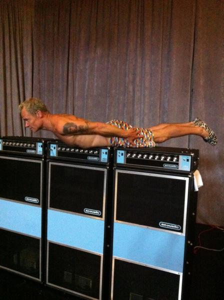 Flea planking. Shark jumped. in My Stream Photos by Music Festivals