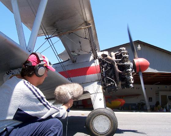 Recording a 1941 Stearman for Cheung Jeung and Fly Boys in My Photos by Sound Effects Sound-effects