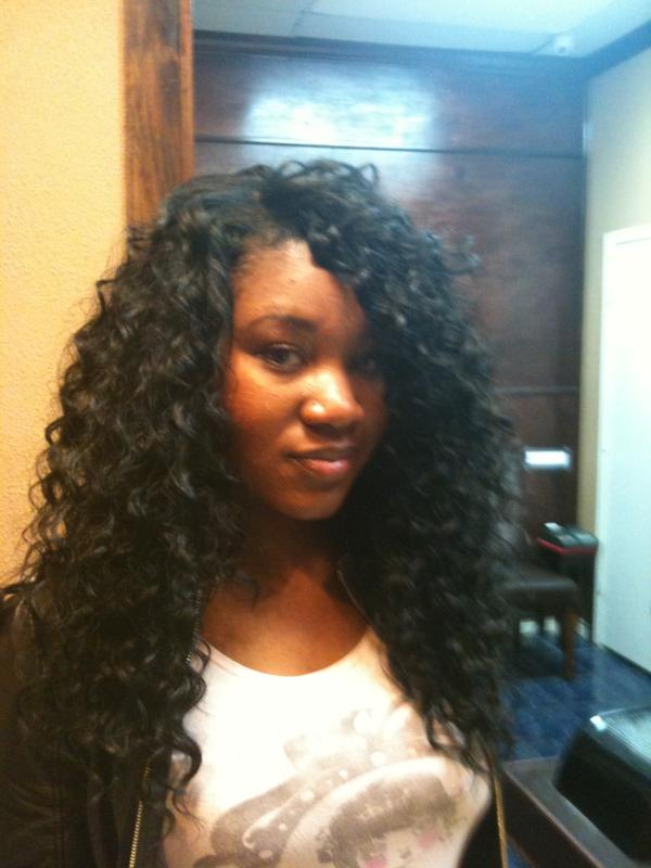 wet and wavy sew in weave hairstyles