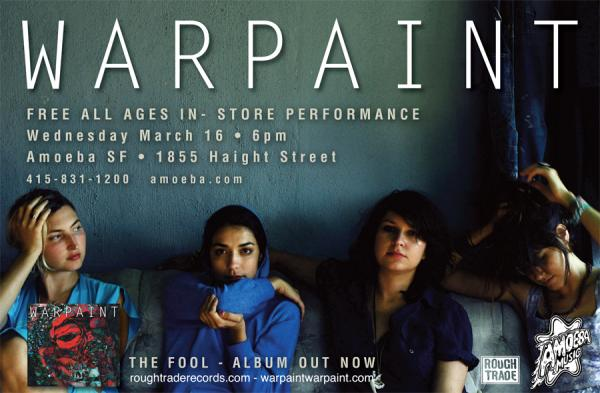 Warpaint will be kicking off their U.S. tour on 3/16 with an in-store performance at Amoeba Music in San Francisco. in My Stream Photos by 