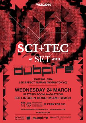 Dubfire @ SET in Miami, 24 March 2010 in Flyers by