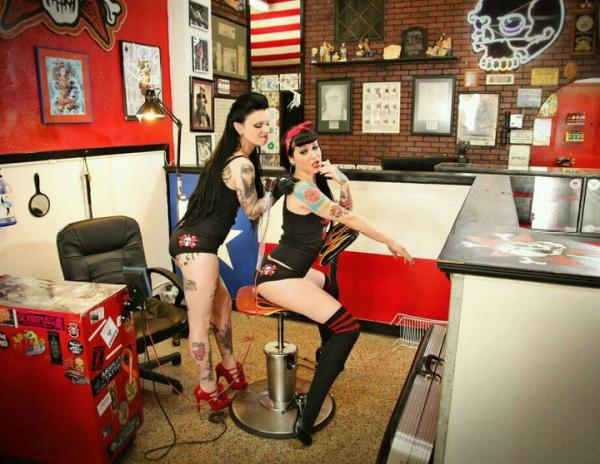 famous tattoo photographers. Taken by a secret photographer @ Gill Montie's World Famous Tattoo Mania in