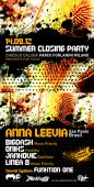 SUMMER CLOSING PARTY EXCLUSIVE SOUND SYSTEM FUNKTION-ONE 14.09.12 MILANO Chiosco Caluga Parco Forlanini Free Event Artists: ANNA LEEVIA Sao