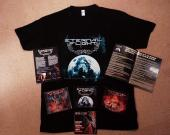 1 t-shirt  + 1 cd digi Dimished Reality, Elegies and Mysteries 40D.r.e.a.m.s41 signé- signed + 1 cd Positive Rage +1 digi